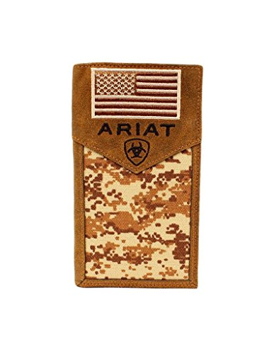 Ariat Unisex-Adults Patriot Digital Camo Rodeo Wallet, Brown