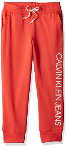 Calvin Klein Big Girls' Logo Sweatpant, Dark Coral, M8/10 Calvin Klein Womens Sleepwear