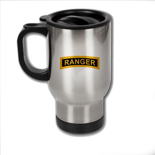 Stainless Steel Coffee Mug with U.S. Army Rangers (Airborne) ()
