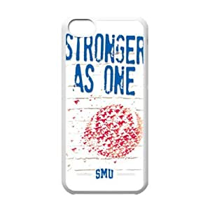 Holiday Gifts NCAA Snap On SMU Mustangs With Hard Shell Case for iPhone 5C-Black