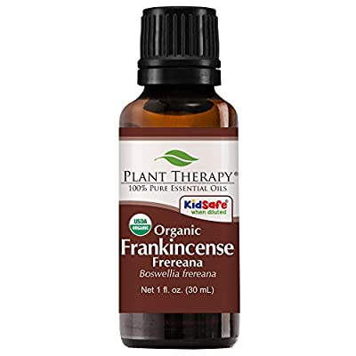Plant Therapy Frankincense Frereana Organic Essential Oil | 100% Pure, USDA Certified Organic, Undiluted, Natural Aromatherapy, Therapeutic Grade