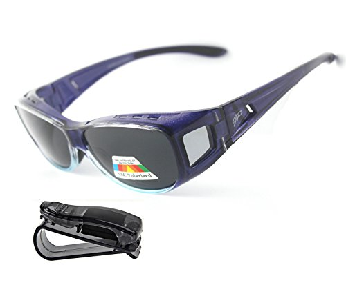 Fit Over Sunglasses Polarized Sunglasses to Wear Over Glasses plus car holder - Fit Eyeglasses Over That Sunglasses