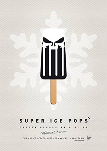 Wall Art Print entitled My SUPERHERO ICE POP - The Punisher