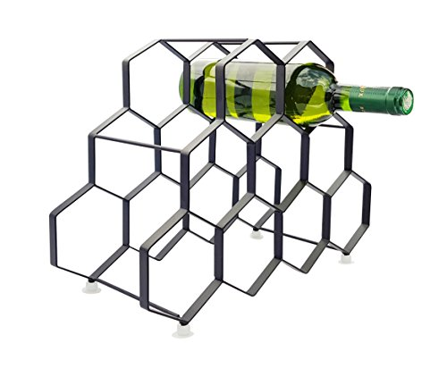 Wine Rack For 9 Bottles Free Standing Metal Portable