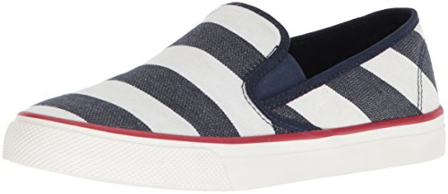 Breton Sperry Seaside Navy Stripe Women's White Shoes wxCfqOv