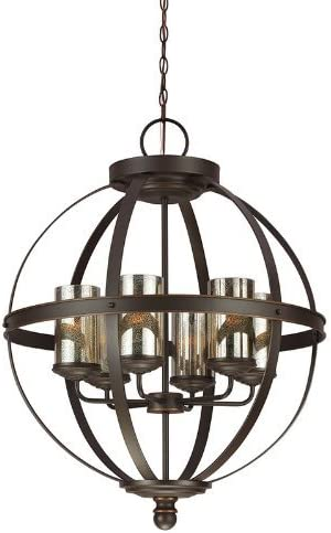 Sea Gull Lighting 3110406-715 Sfera Six-Light Chandelier Hanging Modern Fixture, Autumn Bronze Finish
