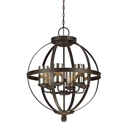 Amazon.com: Sea Gull Lighting 3110406 Sfera 6 luz – lámpara ...