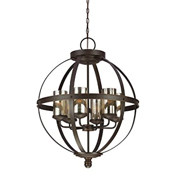 Sea Gull Lighting 3110406-715 Sfera Six-Light Chandelier, Autumn Bronze Finish