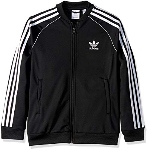 Boys Zip Front Track Jacket - adidas Originals Boys' Big Superstar Jacket, Black/White, X-Large