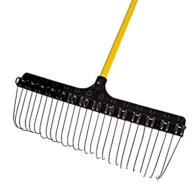 The Groundskeeper II Rake, 21-inches Wide, 55-inch Fiberglass Handle