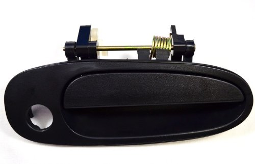 PT Auto Warehouse TO-3149A-FR - Outside Exterior Outer Door Handle, Textured Black - Passenger Side Front