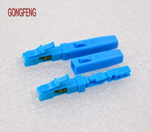 Color:Blue; Insert Type:Male Insert Stock-Home 50Pcs Fiber Optical Connector Lc//Upc Rapid Fast Connector Lc Cold Splice Quick Connector