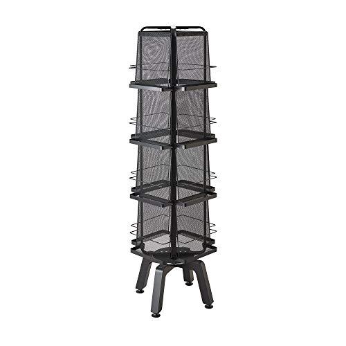 (Safco Products Onyx Rotating Magazine Rack - 16 Pocket, Black (5580BL))