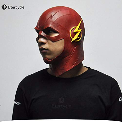The Flash Mask DC Movie Cosplay Costume Prop Halloween Full Head Latex Party Masks -