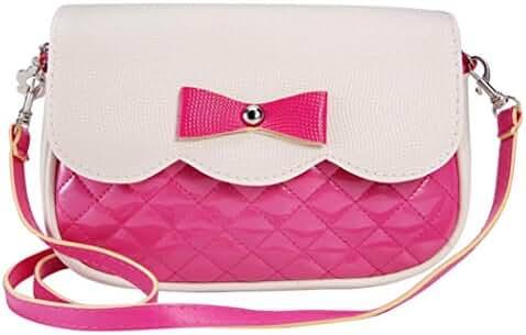 Bowknot Crossbody Bag,Hemlock Girl Shoulder Bag Tote Purse Handbag (Hot pink)