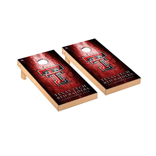 Victory Tailgate Regulation Collegiate NCAA Museum Series Cornhole Board Set - 2 Boards, 8 Bags - Texas Tech Red Raiders