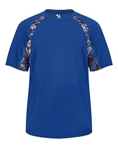 Royal Blue Digi-Camo Youth Medium Short Sleeve Digi-Camo Side/Sleeve Panel Performance Sports Wicking Jersey/Shirt