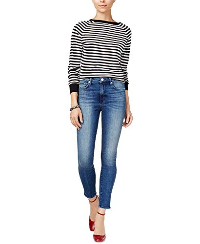 True Religion Women's Halle High-Rise Skinny Jeans Tide Pull 27