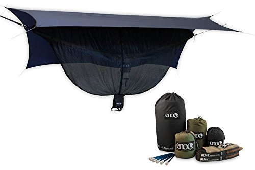 ENO Double Deluxe Hammock OneLink Tent System - Guardian Bug Net, Atlas Strap, and (Eno Guardian Bug Net)