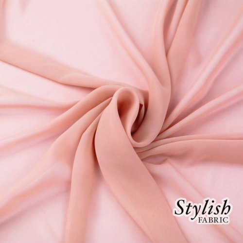 58'' DUSTY PINK Solid Color Sheer Chiffon Fabric by the Bolt - 100 Yards (WHOLESALE PRICE) by Stylishfabric