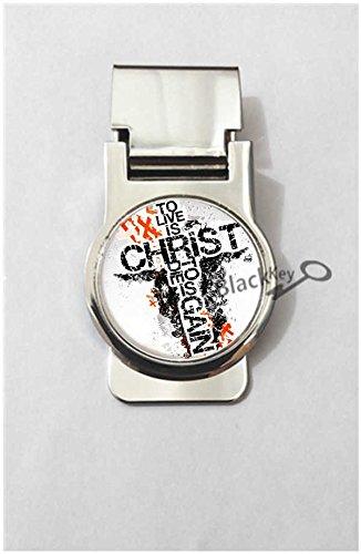 BlackKey Christian Cross Lords Prayer Cross Metal Clip for Receipt, Money, Business Card & Credit Card, Style 2 -854