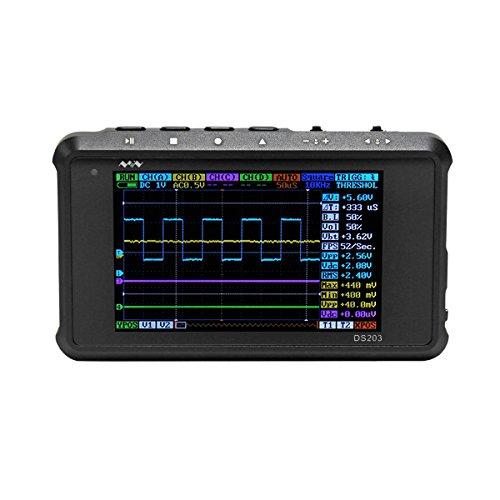 Signstek DSO203 ARM Pocket Portable Digital Oscilloscope Cortex M3 CPU 8M Hz Handheld Oscilloscope with Aluminum Black Case ()