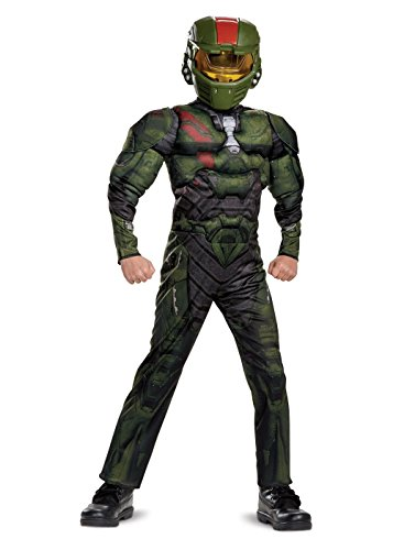 (Halo Wars 2 Jerome Classic Muscle Costume, Green, Large)