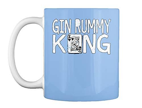 Playing card games shirt gin rummy king 11oz - Powder blue Mug - Teespring ()