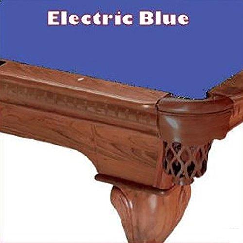 9' Electric Blue ProLine Classic 303 Teflon Billiard Pool Table Cloth (21 Oz Electric Blue Felt)