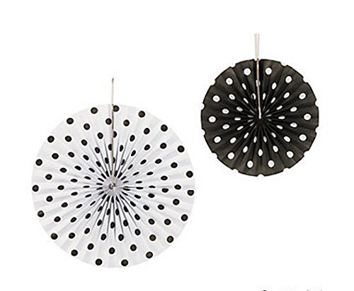 Black White Polka Hanging Fans