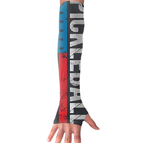 Mipu Shangmao Pickleball Retro American Flag Anti-UV Sleeves Gloves Sun Protection Sports Protective Sleeves