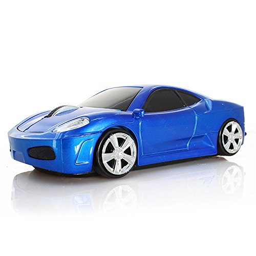 Jinfili 2.4Ghz Wireless Car Shape Mouse 3D Optical Gaming Mice USB Mini Receiver for PC Laptop Computer