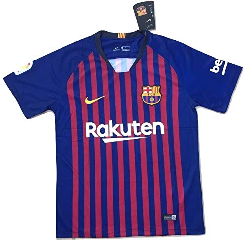 MSK-Store Men's FC Barcelona 2018-2019 Home Soccer Jersey Navy Blue (Men's Medium) (Fc Barcelona Jersey Kids)