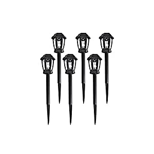 ALEKO Small Solar LED Garden Landscape Lights for Pathway Flower Bed Lawn (6)