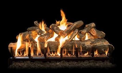 Amazon Com 84 Jumbo Arizona Weathered Oak Charred Log Set