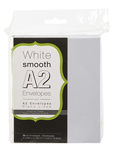 Darice Smooth Envelopes 5 75 Inch 50 Pack