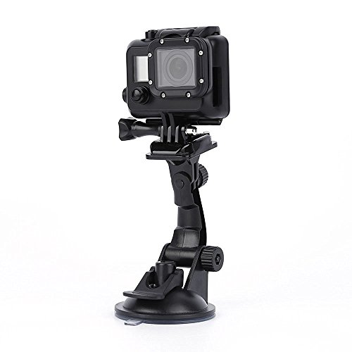 Mini Tripod ,monopod, Tripod Suction Cup Car. Powerful suction cup attaches to any smooth, flat, non-porous surface including windshields, windows and two-way mirrors.