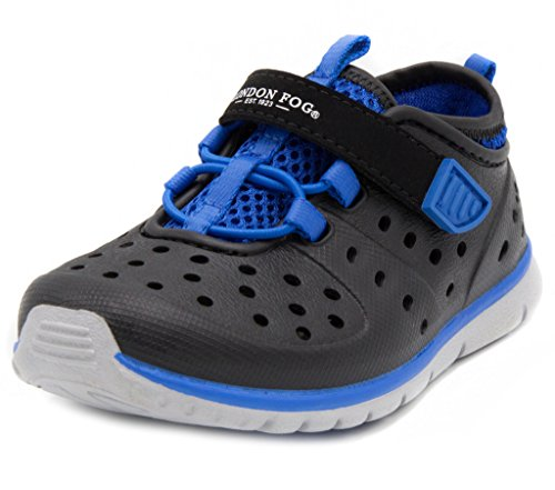 Sweet London (London Fog Mud Puppies from Pool to Play Sneaker Sandal Water Shoes Black/Blue 7)