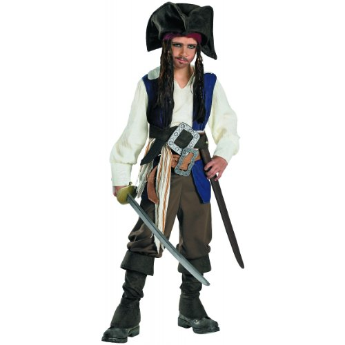 Deluxe Captain Jack Sparrow Child Costume - Small (Deluxe Kids Captain Jack Sparrow Costumes)