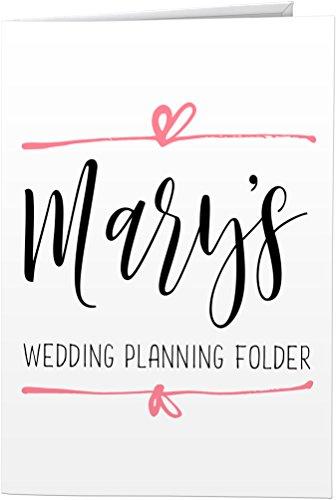 Wedding Planning Folder (Personalized 2-Pocket Folder (Heart Line Wedding Planning))