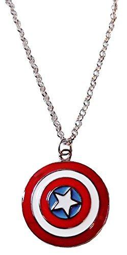 Marvel Comic Costumes Ideas (Marvel Comics CAPTAIN AMERICA Logo Metal/Enamel PENDANT on 20