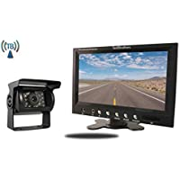 Tadibrothers 7 Inch Monitor with Wireless 170 Degree CCD Mounted RV Backup Camera