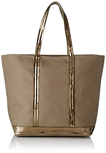 Cabas Women's Zippe Paillettes marron Bruno Bag Vanessa Et Moyen Brown Coton E4wqw6