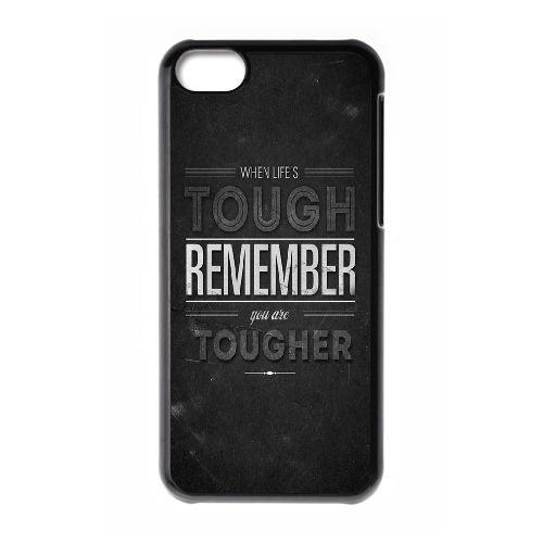 Lorsque la vie est dure Rappelez GZ84AI9 coque iPhone 5c cellulaire cas de téléphone coque W8DH6W6TJ