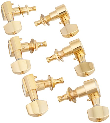Geared Tuners (Ping P2653 6-In-Line Screwless Mount Geared Tuners, Gold)