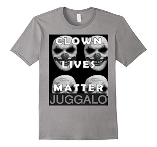 Mens Clown Lives Matter T Shirt 2 3XL Slate -
