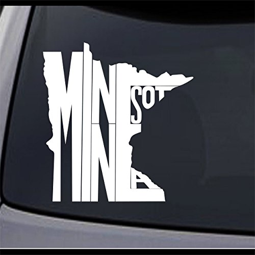 7 Mn Matte ((2x) Minnesota State Map MN Home State Symbol Sign Vinyl Decal Sticker 6