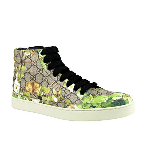 preme GG Green Canvas Hi Top Sneakers Shoes 407342 8960 (9.5 G / 10.5 US) ()