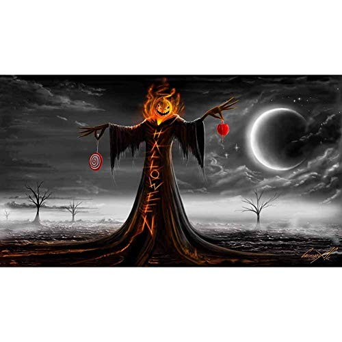 Full Drill 5D Diamond Painting Pumpkin Grim Reaper Cross Stitch Kits Embroidery Art Crafts for Halloween Gifts