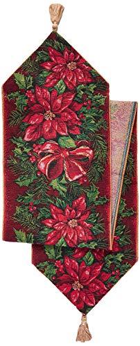 Violet Linen Decorative Christmas Tapestry Table Runner, 13